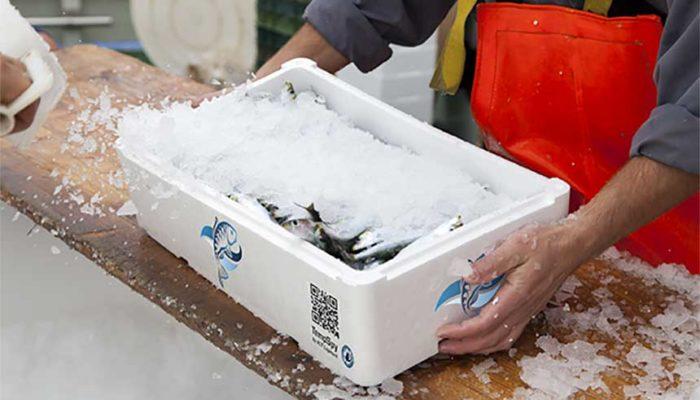 Merking på fiskekasser